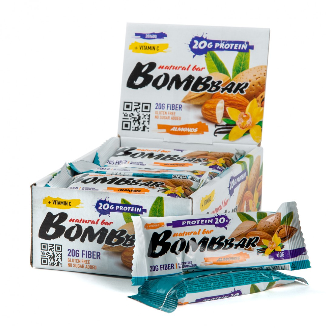Bombbar Natural Bar (60 гр) Миндаль-ваниль
