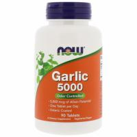 NOW Garlic 5000 mcg (90 табл)