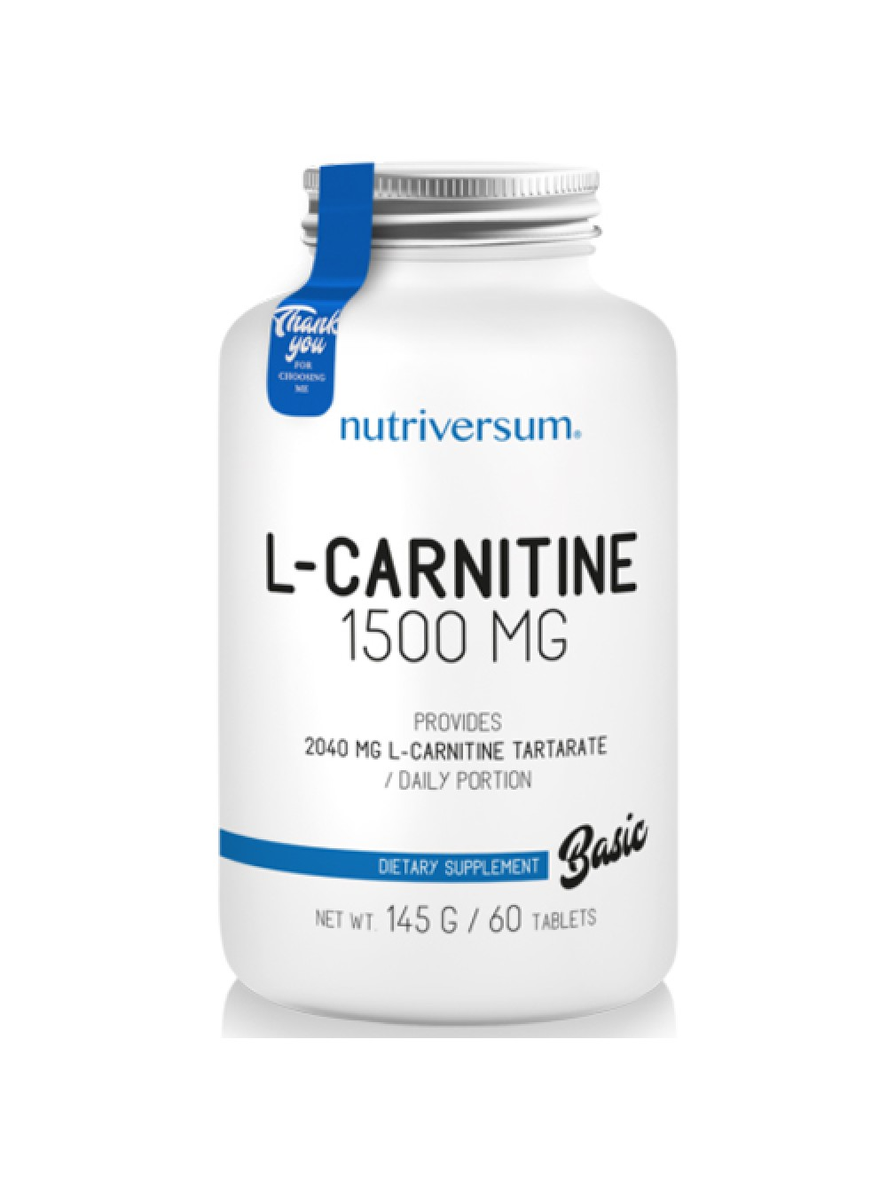Nutriversum Basic L-Carnitine 1500 mg (60 табл)